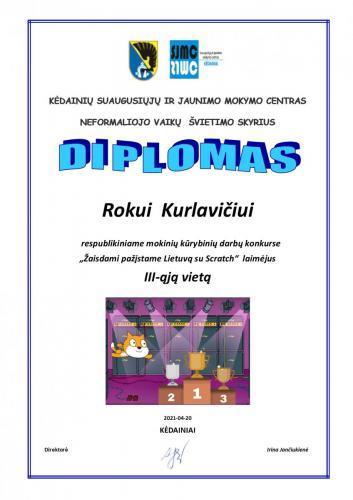 Rokui Kurlavičiui 3-4 kl