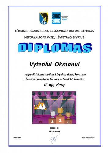 Vyteniui Okmanui 3-4 kl